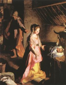 Christmas nativity Federico Baroccio 1597 3massketeersblogspotcom