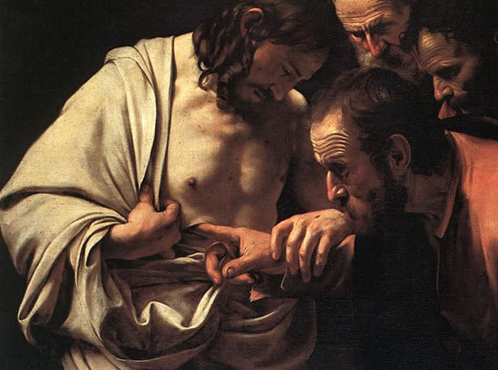 Thomas The Incredulity of St Thomas by Caravaggio