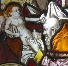 Circumcision of Christ stained glass