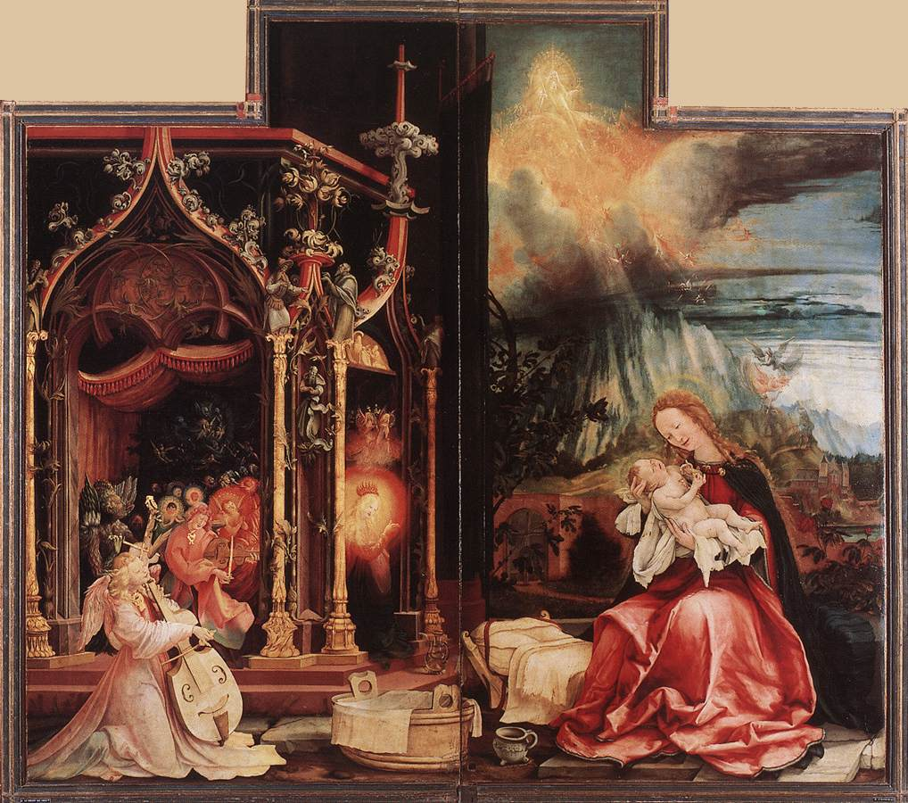 Grunewald Isenheim Altarpiece Unto us a child is bor...