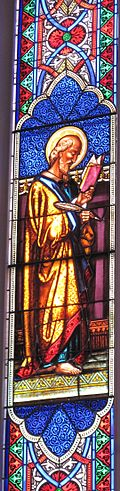 St Luke stained glass Wikipedia 120px-LukeSt.Matts
